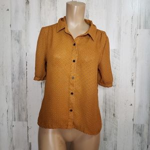 Forever 21 polka dot button shirt size S